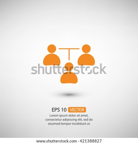 communication concept. connection icon, vector illustration. Flat design style - stock vector