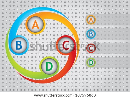 Communication concept  editable template with copy space area - stock vector