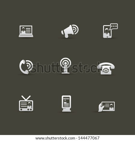 Communication concept icons,vector - stock vector