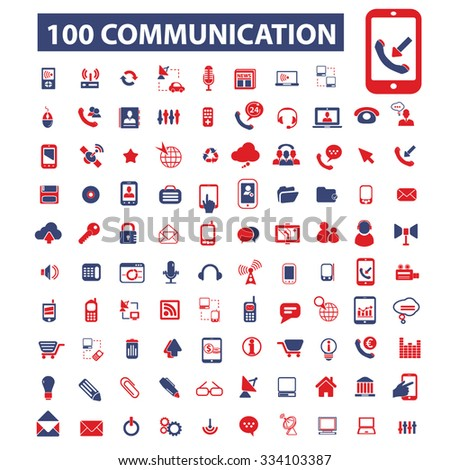 communication, connection, technology, mobile icons, signs vector concept set for infographics, mobile, website - stock vector