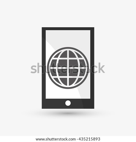 Communication design. smartphone icon. White background, isolate - stock vector