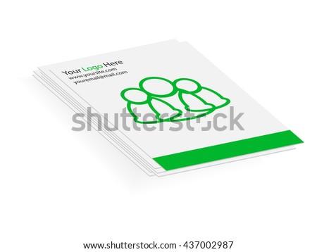 communication folder - stock vector