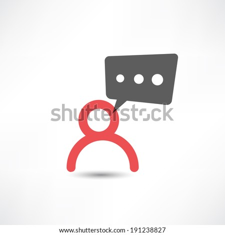 Communication icon. - stock vector