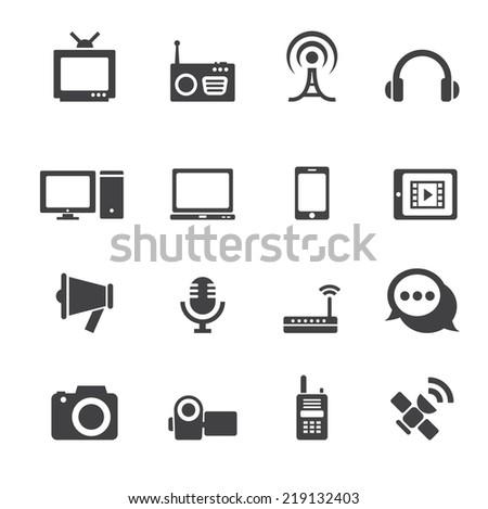 communication icon - stock vector