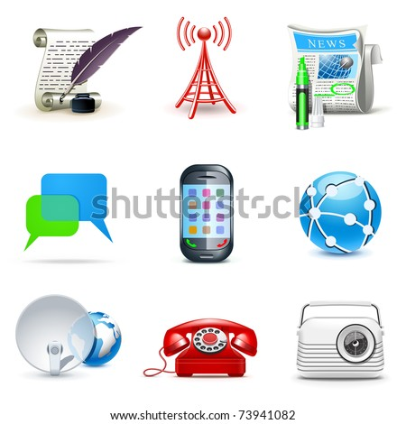 Communication icons | Bella series - stock vector