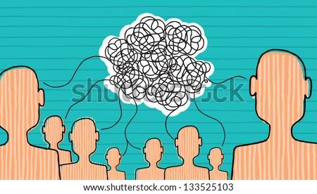 Communication is built - stock vector