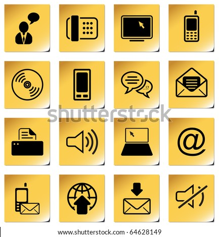 Communication - professional icons for your website, application, or presentation - stock vector