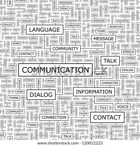 COMMUNICATION. Seamless vector pattern. - stock vector