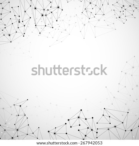 Communication social mesh. Network polygonal background. Vector illustration.  - stock vector