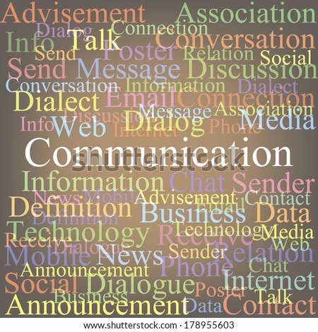 Communication tagcloud - stock vector