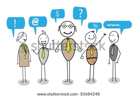 communication team - stock vector