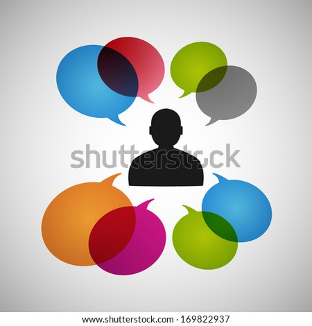 Communication. Vector eps10 - stock vector