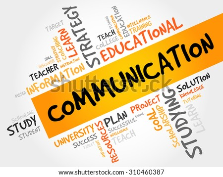 COMMUNICATION word cloud, education concept - stock vector