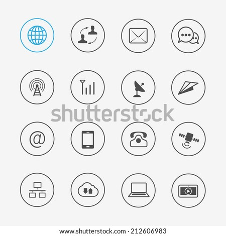 Communications ui icon - stock vector