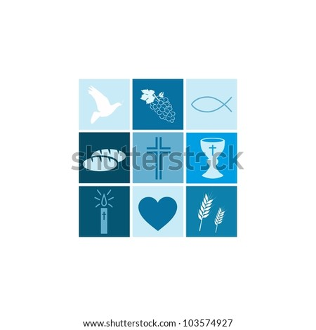 Communion Boy - stock vector