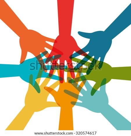 Community and social design, vector illustration eps 10 - stock vector
