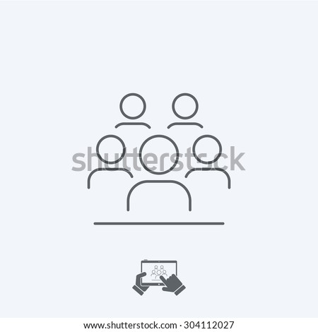 Community icon - Thin series - stock vector