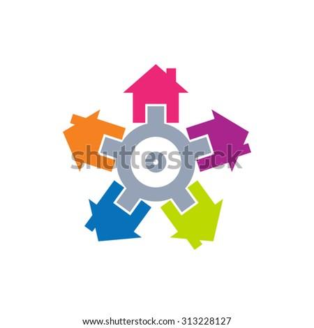Community vector icon - stock vector