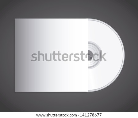 compact disc design over black background vector illustration - stock vector