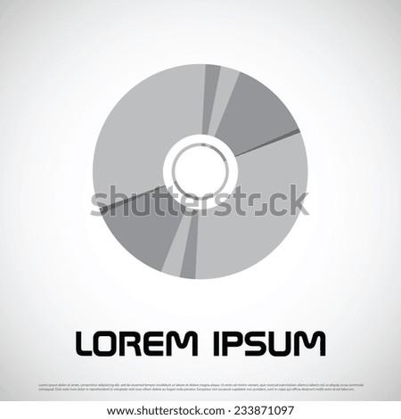 Compact disc icon design - stock vector