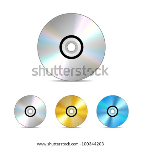 Compact disc. Vector illustration. - stock vector