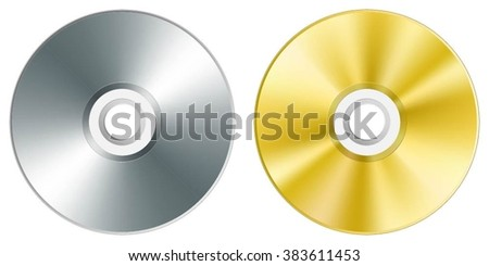 Compact disc. Vector illustration - stock vector
