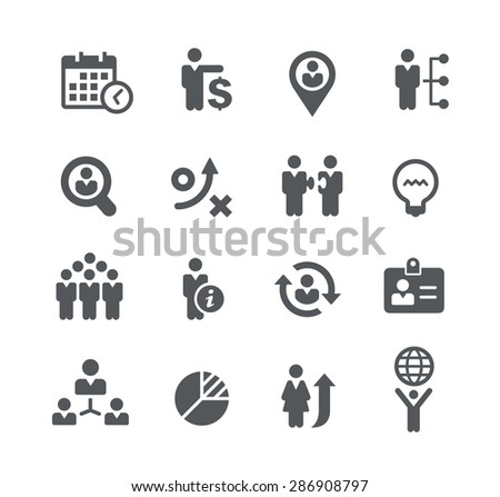 Company Efficiency // Business Strategies - stock vector