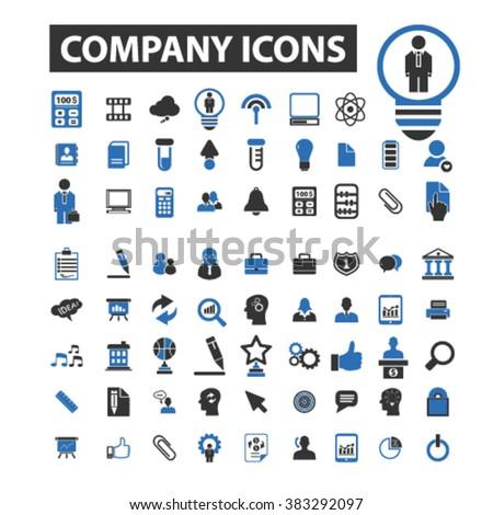 company icons - stock vector