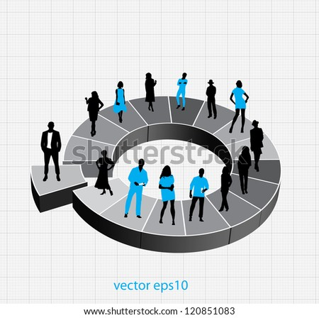 Company structure - stock vector