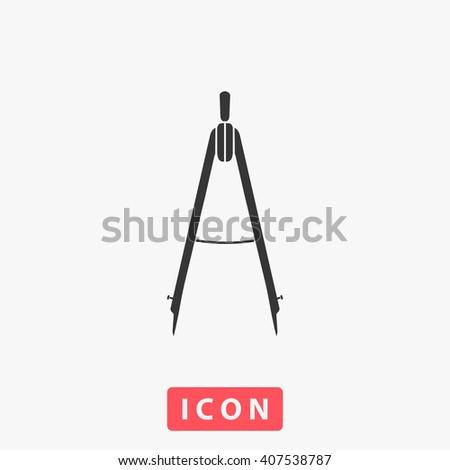 compass. compasses Icon, compasses Icon Vector, compasses Icon Art, compasses Icon eps, compasses Icon Image, compasses Icon logo, compasses Icon Sign, compasses icon Flat, compasses Icon design - stock vector