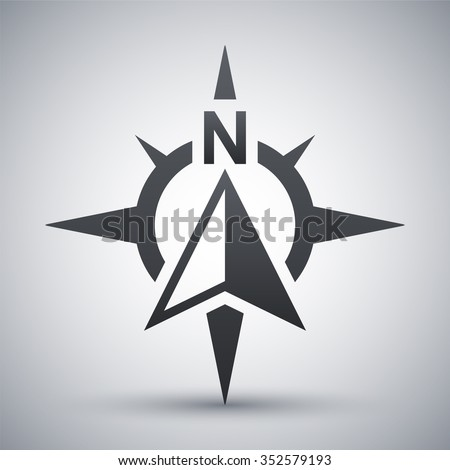 Compass concept icon, vector - stock vector