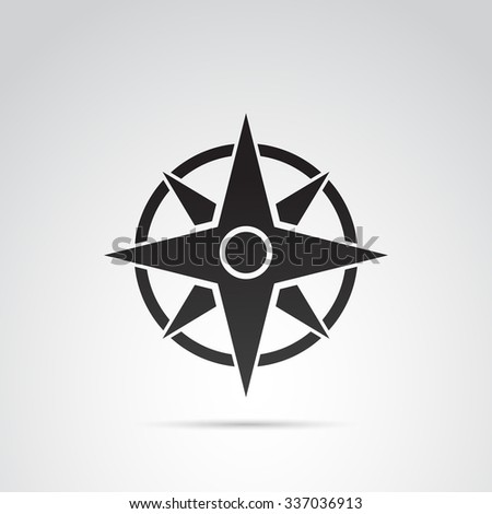 Compass icon isolated on white background. Vector art. - stock vector