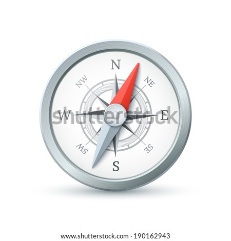 Compass icon isolated on white background. Vector illustration - stock vector