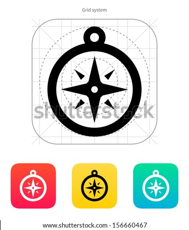 Compass icon. Navigation sign. Vector illustration. - stock vector