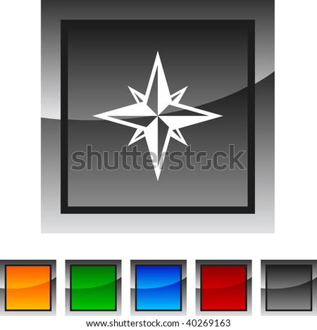 Compass icon set. Vector illustration. - stock vector