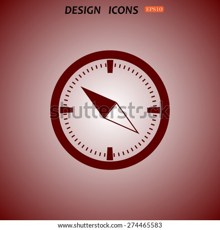 Compass. icon. vector design - stock vector