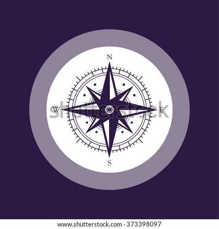 Compass icon . Vector illustration - stock vector