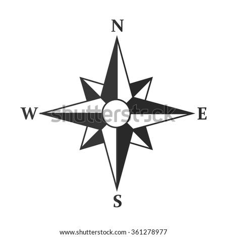 Compass  - vector icon - stock vector