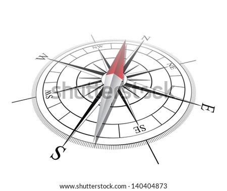 Compass. Vector illustration - stock vector