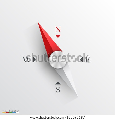 Compass. Vector Illustration. - stock vector