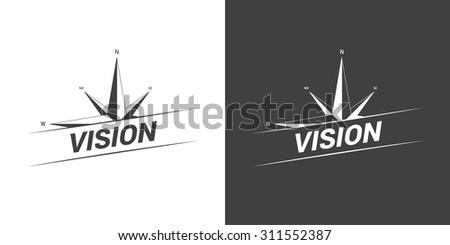 Compass Vision Concept - stock vector