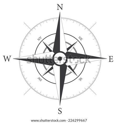Compass wind rose. Wind icon. Vector illustration. - stock vector