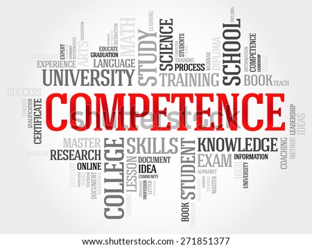 COMPETENCE word cloud, business concept - stock vector