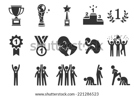 Competition icons - Illustration - stock vector