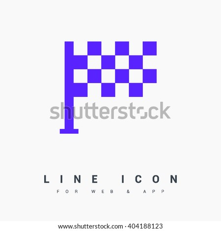 Competition isolated minimal single flat linear icon. Sport line vector icon for websites and mobile minimalistic flat design. - stock vector
