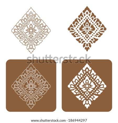 Complementary Icon of Line Thai Art Vector illustration. - stock vector