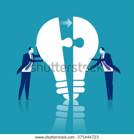 Completing Idea. Business illustration. - stock vector
