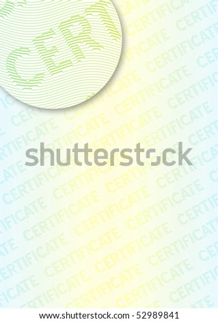 Complex vector pattern that is used in currency and diplomas. - stock vector