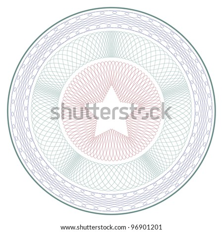 "Complex vector pattern that is used in currency and diplomas. For more see ""Guilloche"" in my gallery. - stock vector"