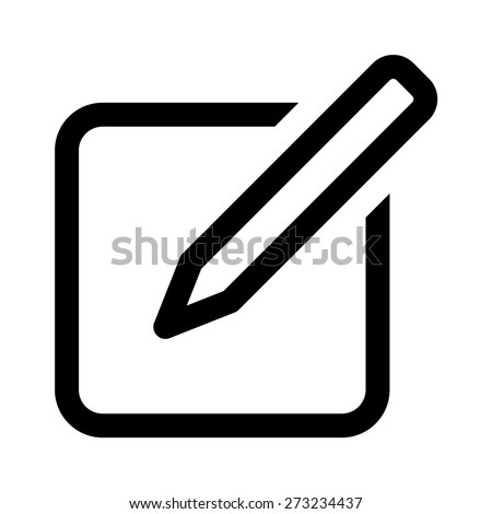Compose message line art icon for apps and websites - stock vector